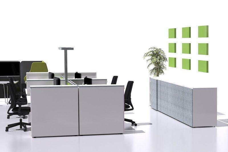 Büro ohne Wände in 3D