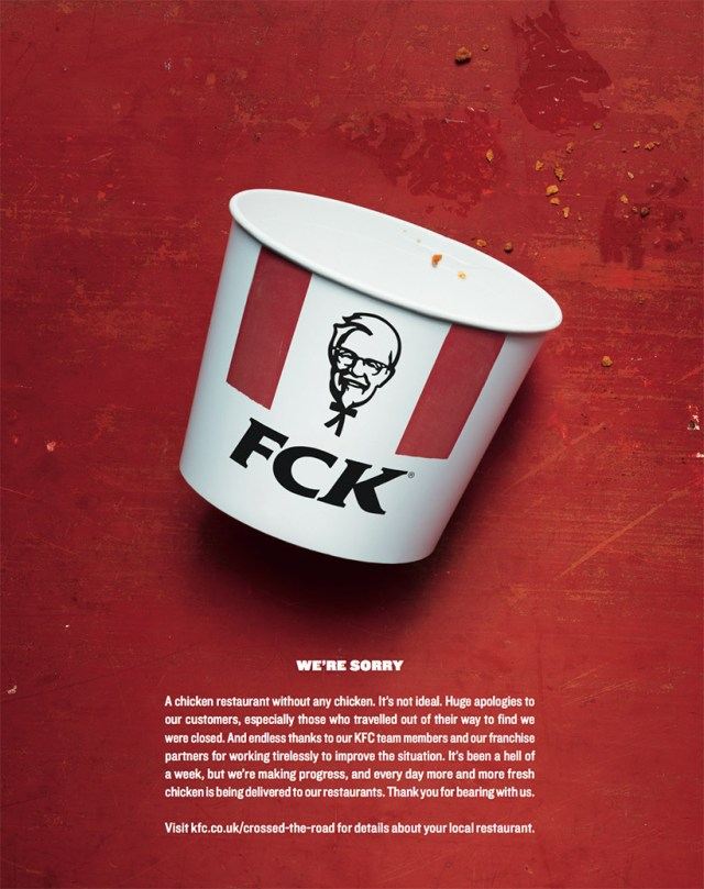 Top 12 Award Winning campaigns in Cannes Lions 2018-KFC