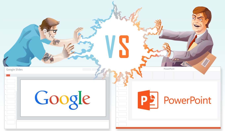 power point google slides pojedynek