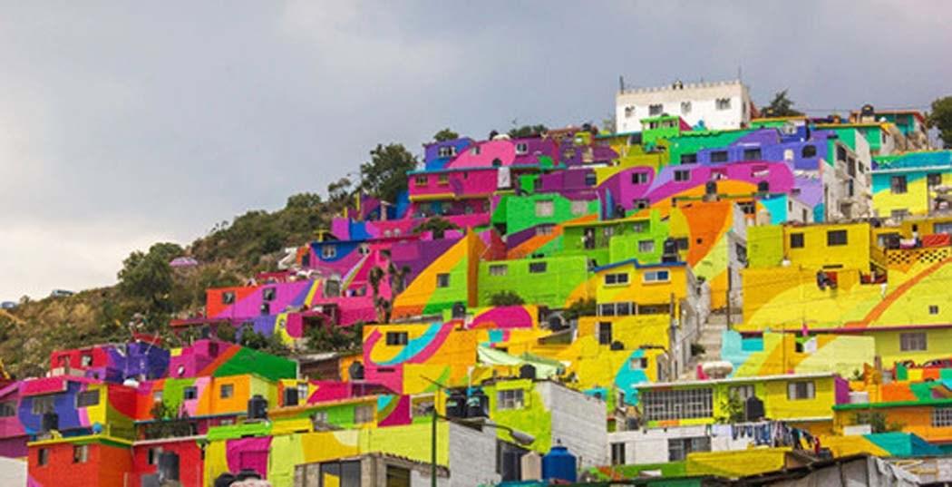 Murale na nietypowych powierzchniach crew germen graffiti town mural mexico