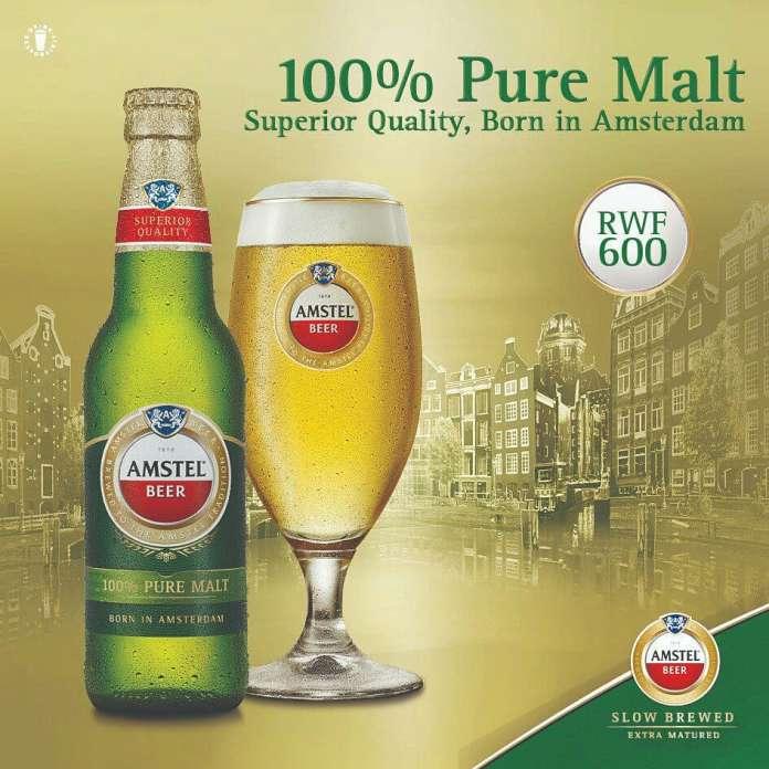 Amstel Introduces 100% Malt Beer In Rwanda (Pictures) - Brand Spur