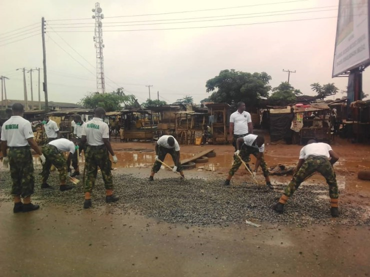 Image result for Soldiers on Atan-Owode road