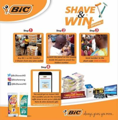 bic #ShaveAndWin promo brandspurng.