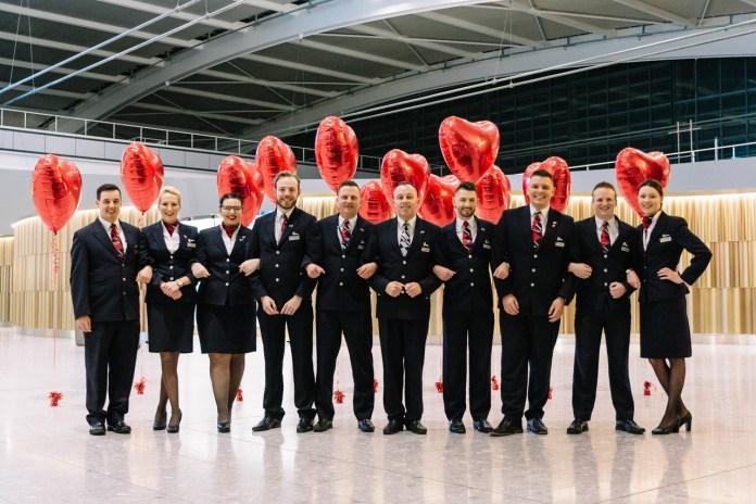 British Airways' Valentine's flight takes off - Brand Spur