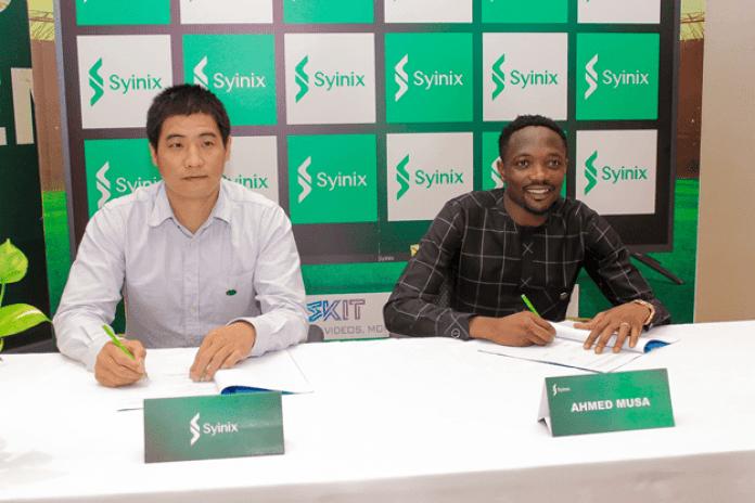 Syinix signs Ahmed Musa as Brand Ambassador (Photos) - Brand Spur
