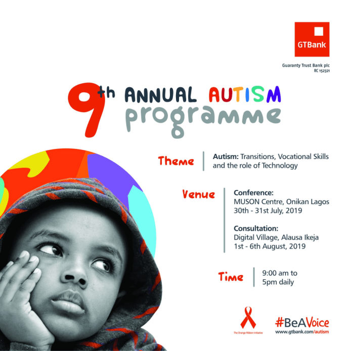GTBank Holds 9th Annual Autism Conference July 30th - 31st - Brand Spur