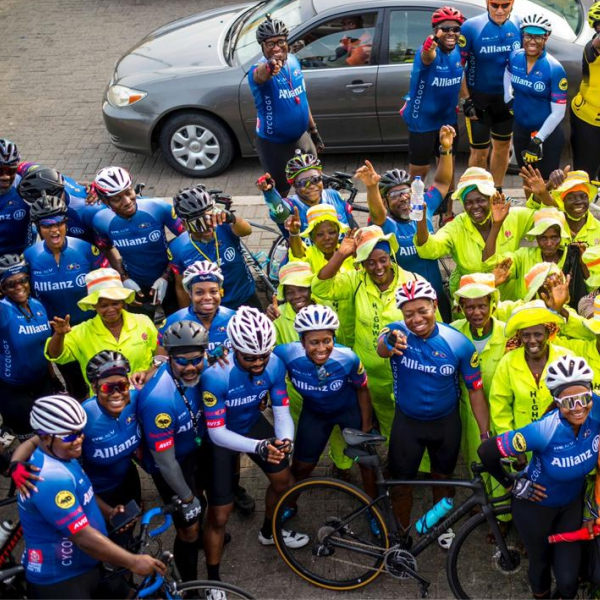 Allianz partners with Cycology club to donate materials and cash to Lagos highway cleaners - Brand Spur