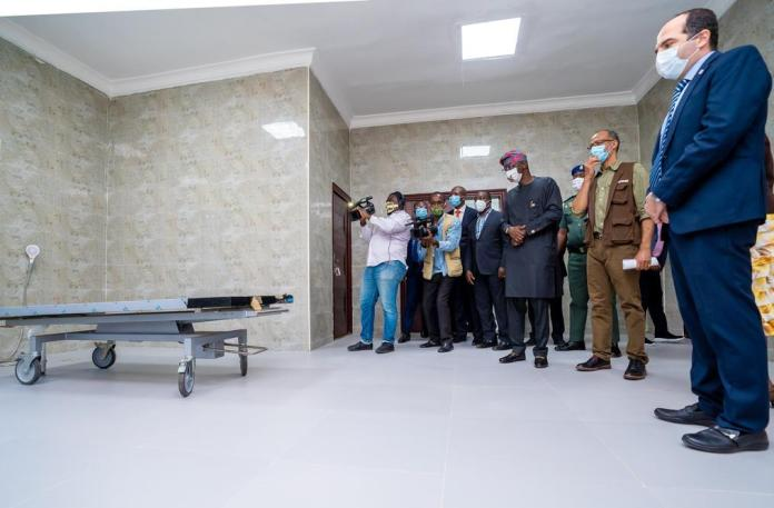 Sanwo-Olu Commissions 48-Chamber Morgue in Yaba Isolation Centre (Photos) - Brand Spur