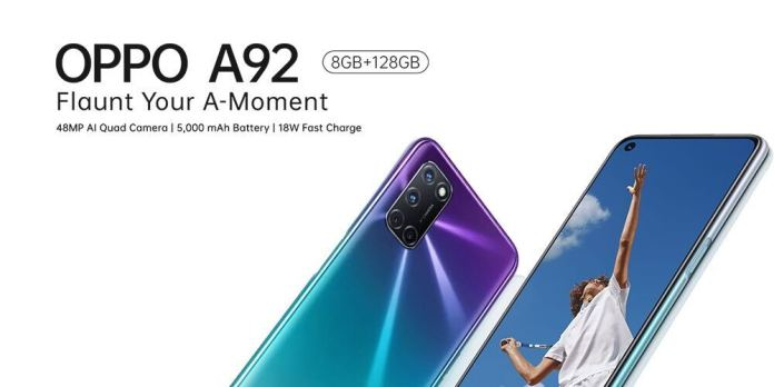 OPPO Mobile Launches The Powerful OPPO A92 Brandspur In Nigeria