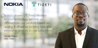 Nokia to provide Tizeti with LTE Fixed Wireless Access solution for high-speed internet services in Nigeria