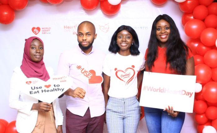 1. Salami Abiola Rukayat; Clinical dietitian & Jide Owolabi; Tech Director Cardiac Community, Ayotunde Omitogun; Executive Director Cardiac Community and Damilola Sobajo; Communications Director Cardiac Com