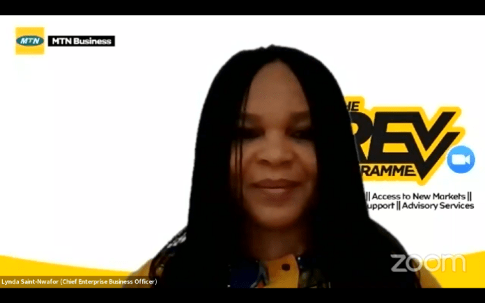 Chief Enterprise Business Officer, MTN Nigeria, Lynda Saint-Nwafor brandspurng 1