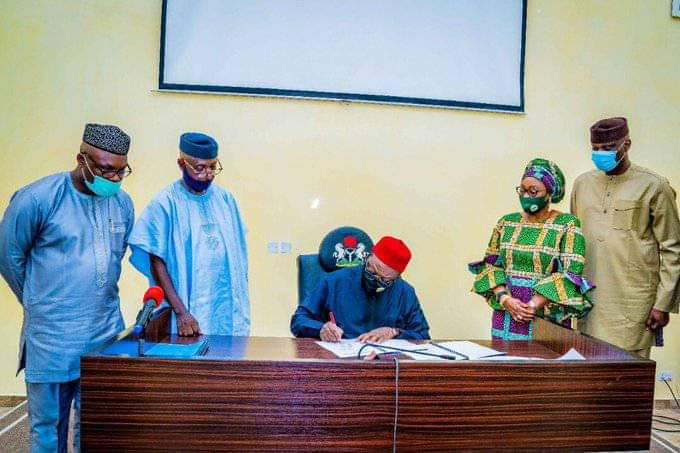 Kayode Fayemi signs Compulsory Treatment and Care for Child Victims of Sexual Violence Bill 2020 into Law.