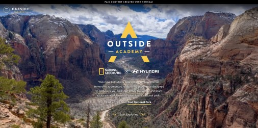 """Hyundai And National Geographic Launch """"Outside Academy""""-Brand Spur Nigeria"""