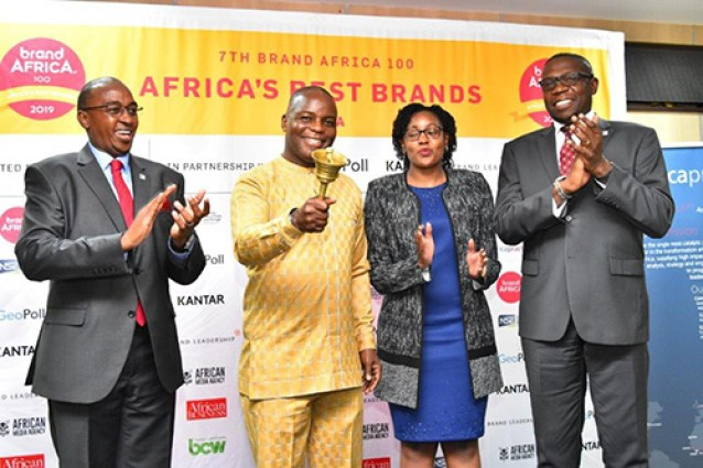 Kuria Waithaka (CLO, NSE), Thebe Ikalafeng (Chairman and Founder, Brand Africa), Patricia Githua (Geopoll), Geoffrey Odundo (CEO, NSE), sounding Africa's call for business-Brand Spur Nigeria