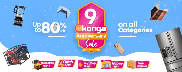 Konga 9th Anniversary: Konga Rolls Out 900k Products, 90k Deals-Brand Spur Nigeria