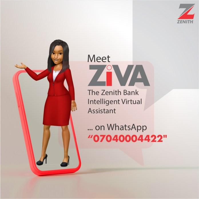 Zenith Bank Launches ZIVA Whatsapp Banking-Brand Spur Nigeria