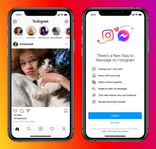 Instagram Users Can Now Chat With Messenger Users Directly - Brand Spur
