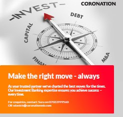 Coronation Fixed Income and Exchange Rate (CFEX) Update