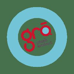 logo for gro greek restaurant branding