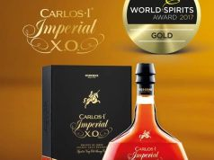 Carlos I Imperial, medalla de oro World Spirits Award 2017 al mejor brandy