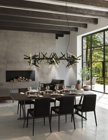 modern chandelier linea collection