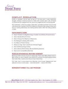GDT Conflict Resolution Workshop