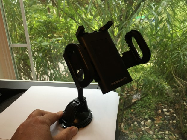 Stick-on mount smartphone holder
