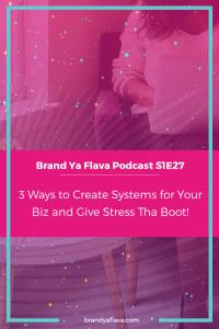 S1E27 -- 3 Ways to Create Systems for Your Business and Give Stress Tha Boot