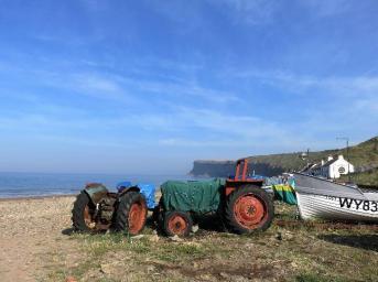 Saltburn sea tractors