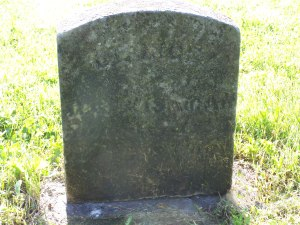 George Isaman's headstone, Maplehurst Cemetery in Hinsdale NY