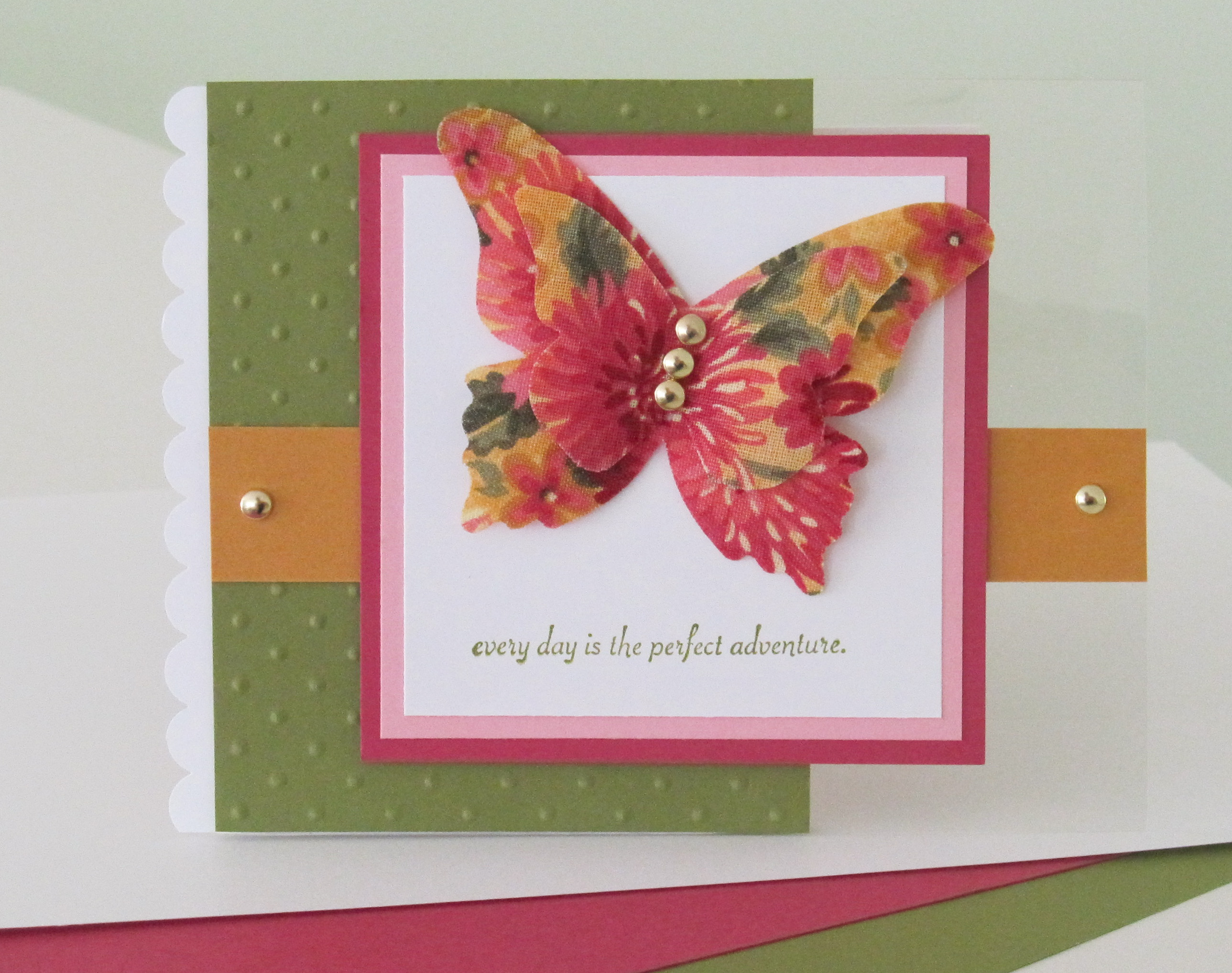 Todays Card Features The Stampin Up Beautiful Butterflies