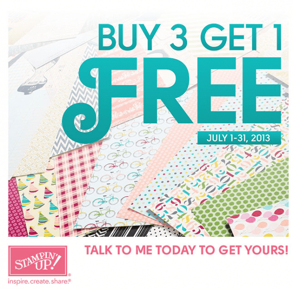 Stampin Up Buy 3 Get 1 FREE!