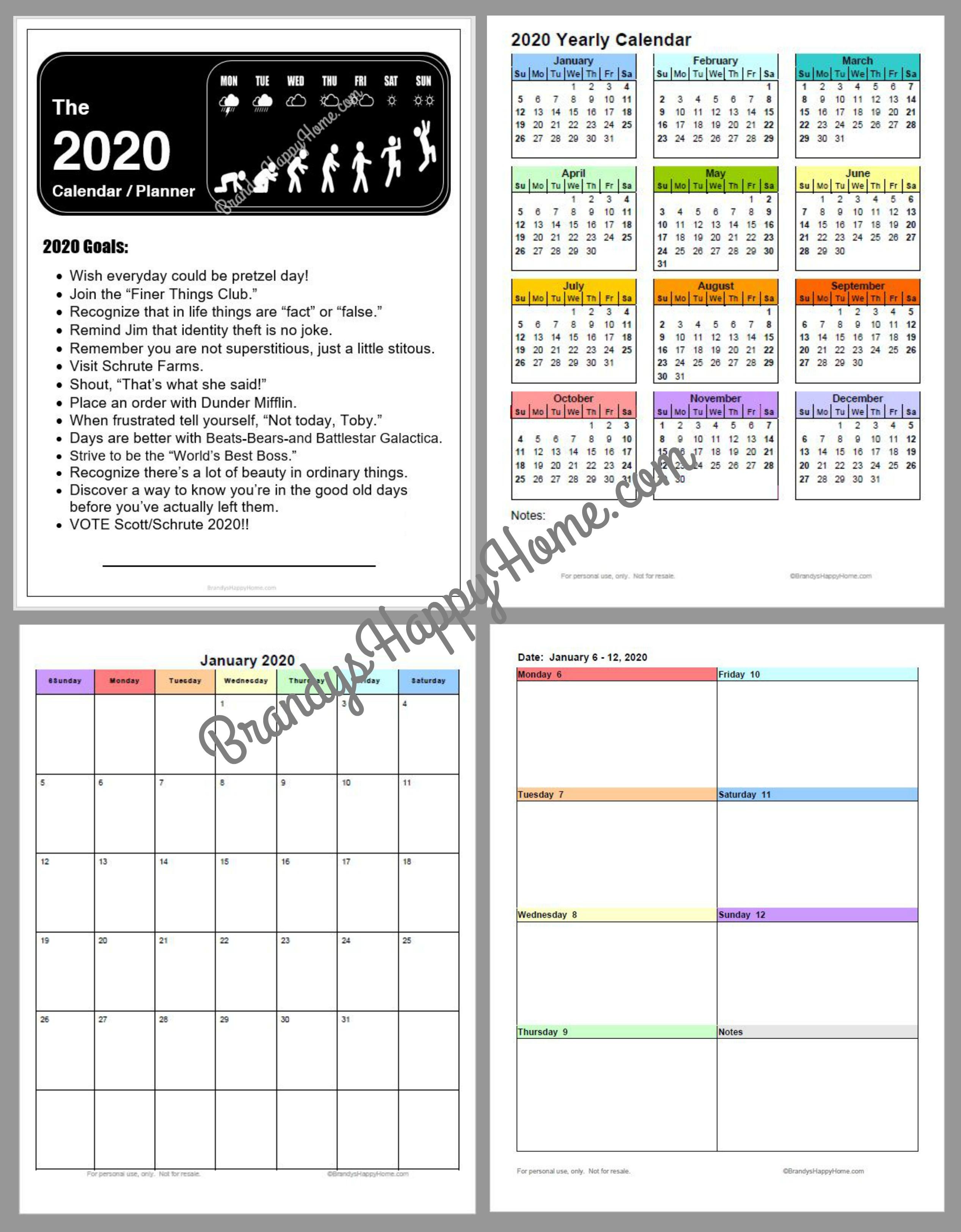 Free Diy Calendar Planner Printables