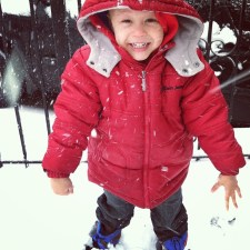 Aiden loves the snow!
