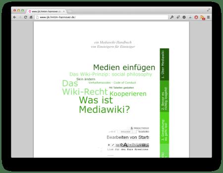 Screenshot Mediawiki-Handbuch