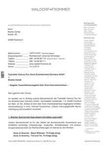 Anwaltsschreiben Waldorf Frommer