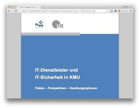 Screenshot IT-Sicherheit bei KMU