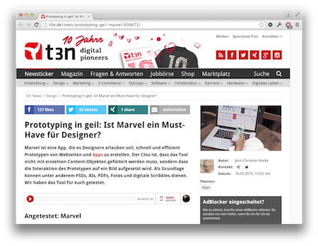 Screenshot Marvel Website Prototyping
