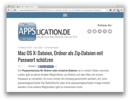 Screenshot ZipDateien Passwort