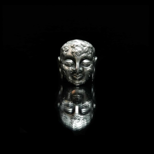BRANS - handcrafted silver jewelry - Blooming Buddha ring