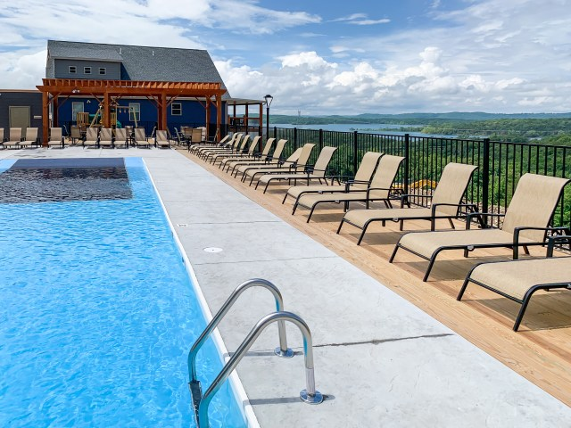 Neighborhood pool at Lodges at Chateau Cove in Branson on Table Rock Lake