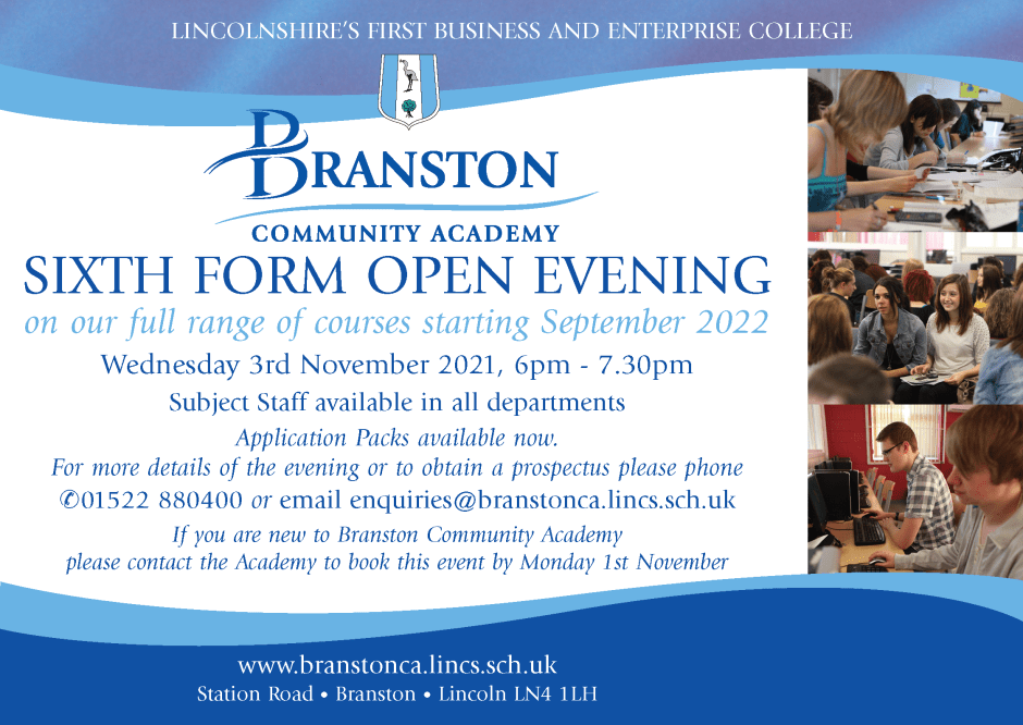 6th Form Open Evening 21