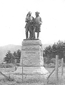 Photo of a statue of Sir William Johnson. Courtesy of http://www.digitalantiquaria.com/JOTM/index.html.