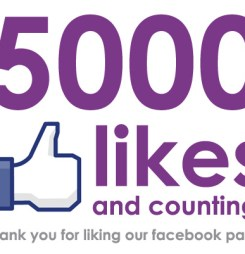 We've reached 5000 likes on Facebook