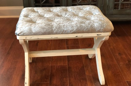 IMG 3019 - DIY Tufted Stool Makeover