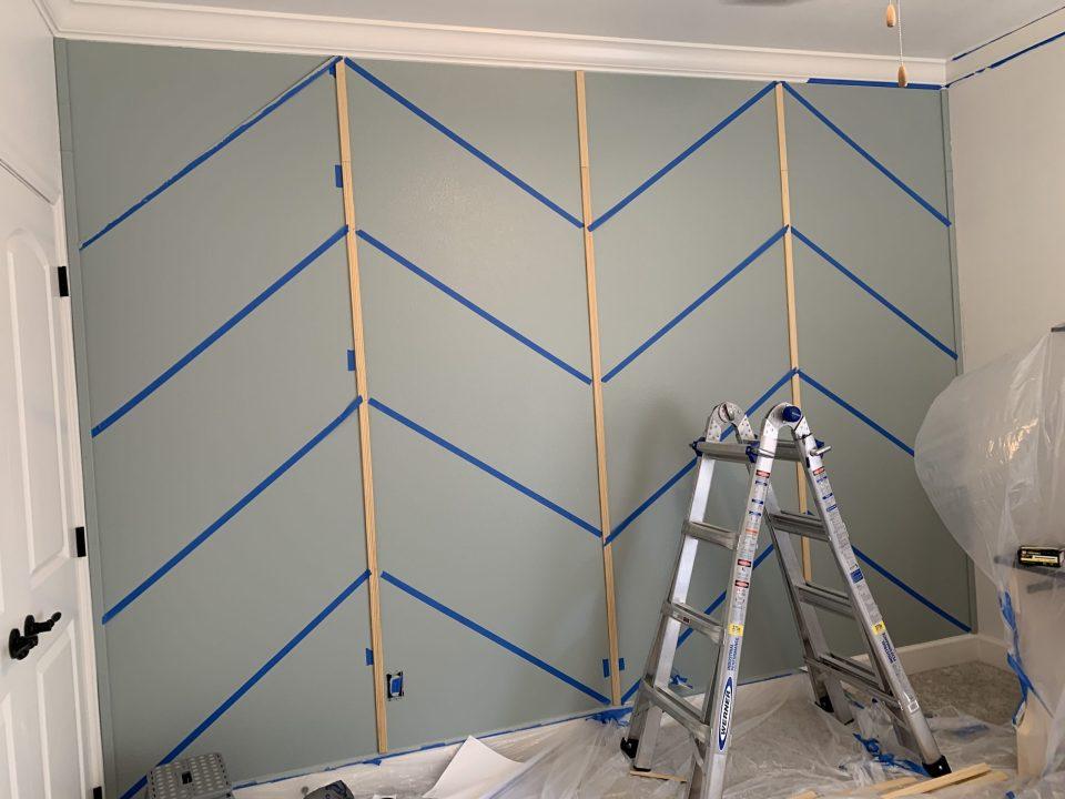 IMG 7813 scaled - DIY Herringbone Wall