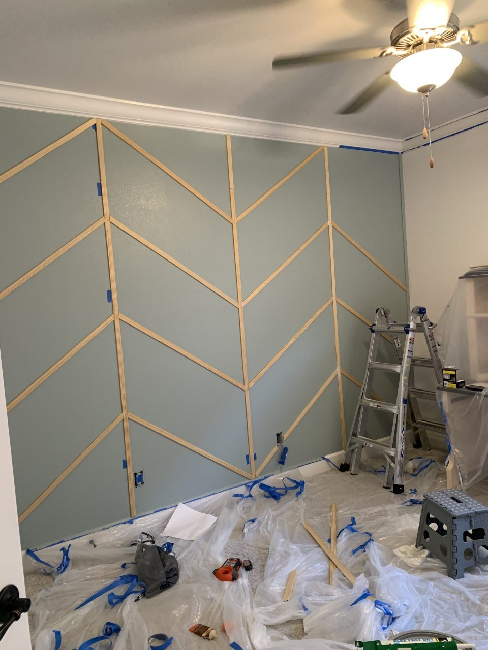 IMG 7815 scaled - DIY Herringbone Wall