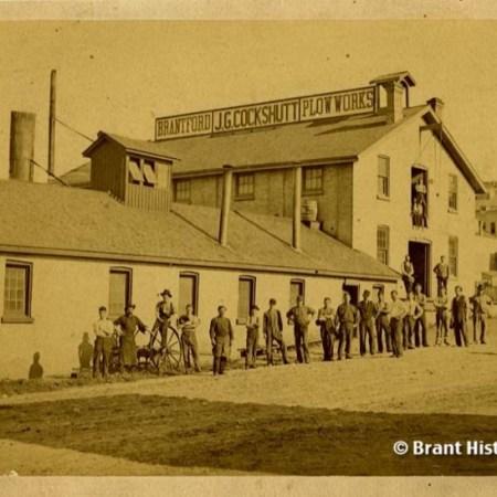 Brantford Plow Works, c. 1880