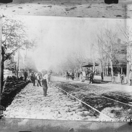 Laying Streetcar Tracks on Brant Avenue